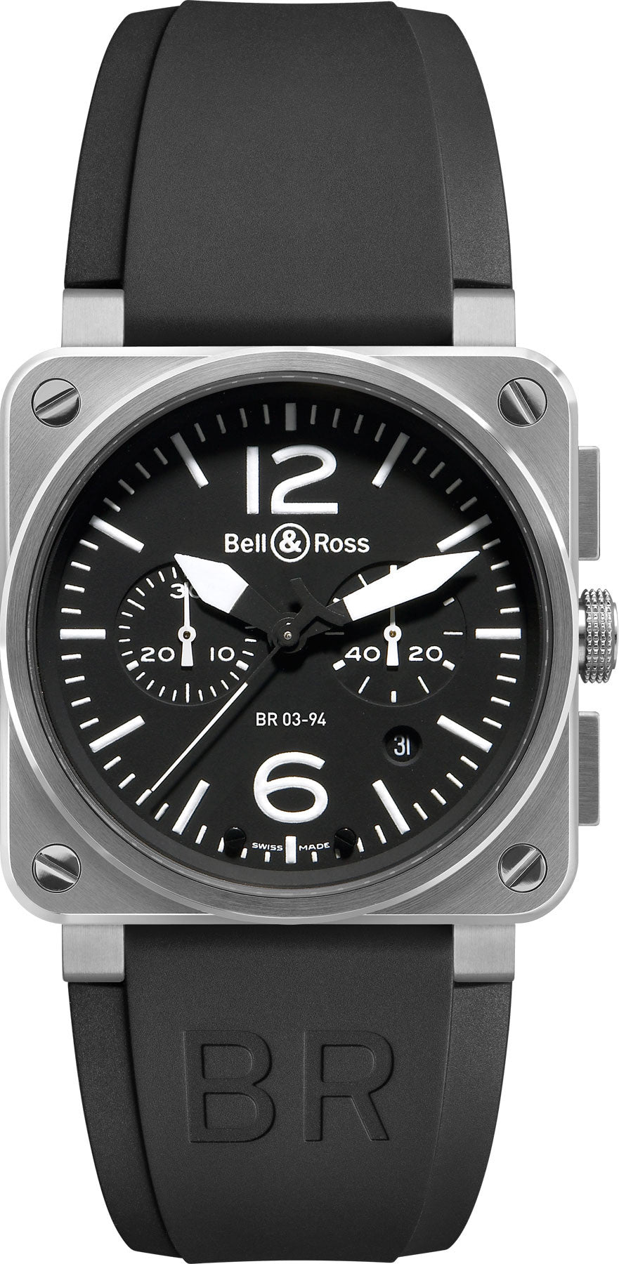 Bell & Ross Watch BR 03 94 Chronograph Black Dial Steel Case