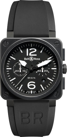 Bell & Ross Watch BR 03 94 Chronograph Black Dial Carbon Finish