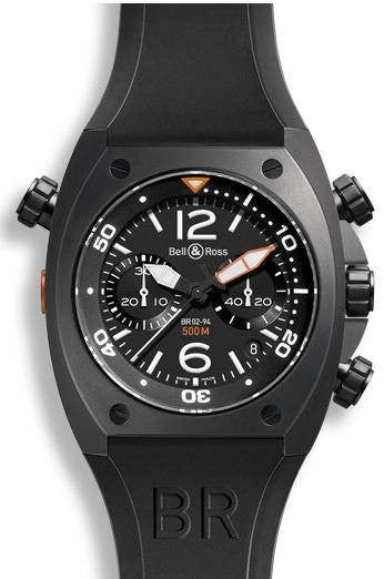 Bell & Ross BR 02 Chronograph Black Carbon Case D