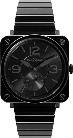 Bell & Ross Watch BRS Black Phantom Ceramic Bracelet Limited Edition
