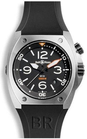 Bell & Ross BR 02 Automatic Black Dial Steel Case D