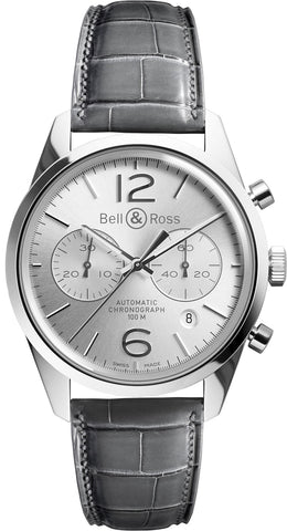 Bell & Ross Watch Vintage BR 126 Officer Silver