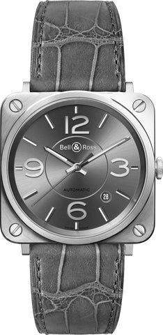 Bell & Ross Watch BRS Officer Ruthenium