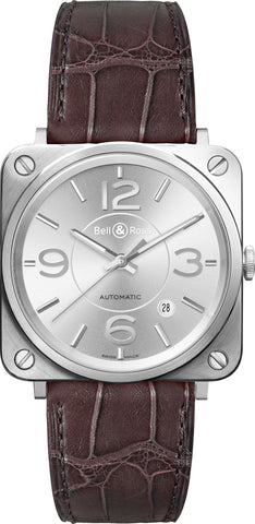 Bell & Ross Watch BRS Officer Silver