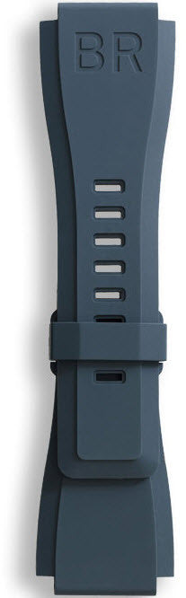 Bell & Ross Strap BR 01/03 Rubber Blue Without Buckle