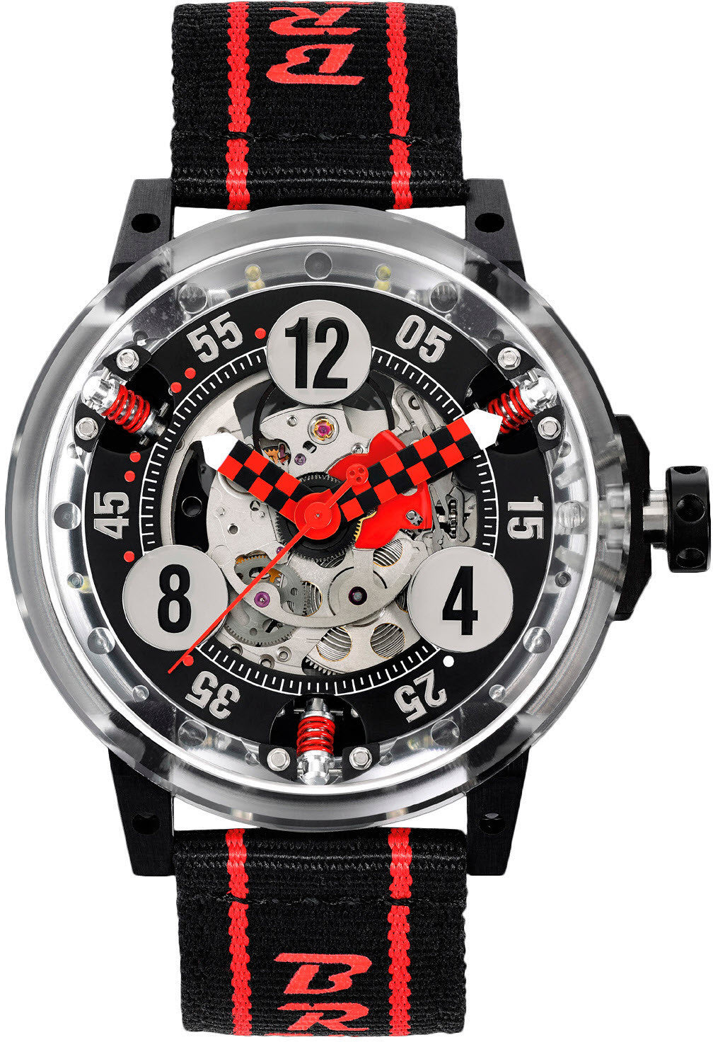 B.R.M Watch R-46 Makrolon Red Hands