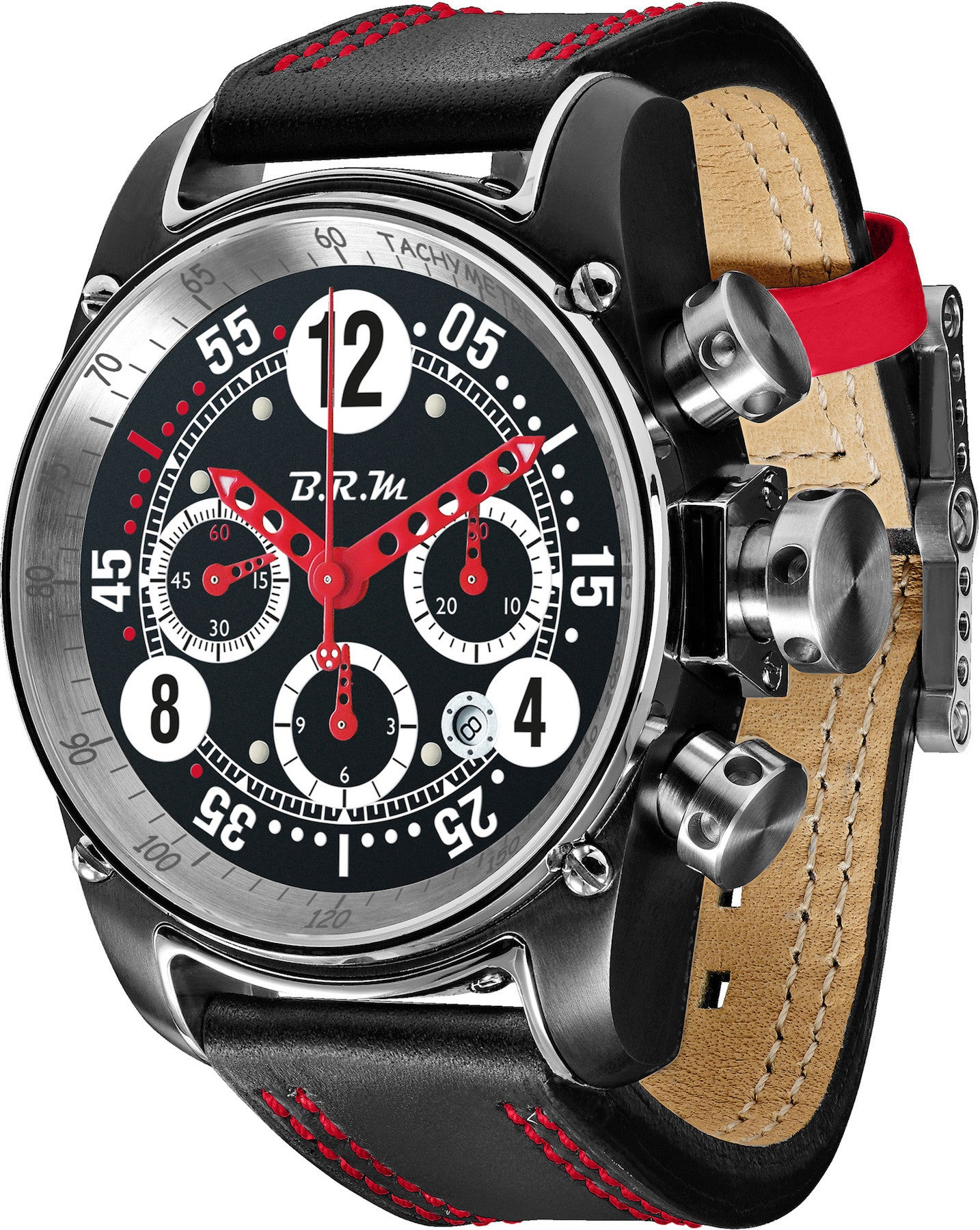B.R.M Watch T12-44 Drivemaster Red Hands