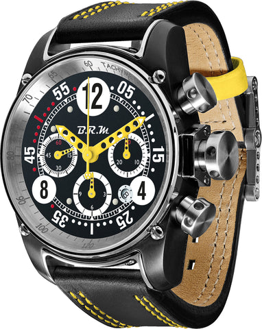 B.R.M Watch T12-44 Drivemaster Yellow Hands