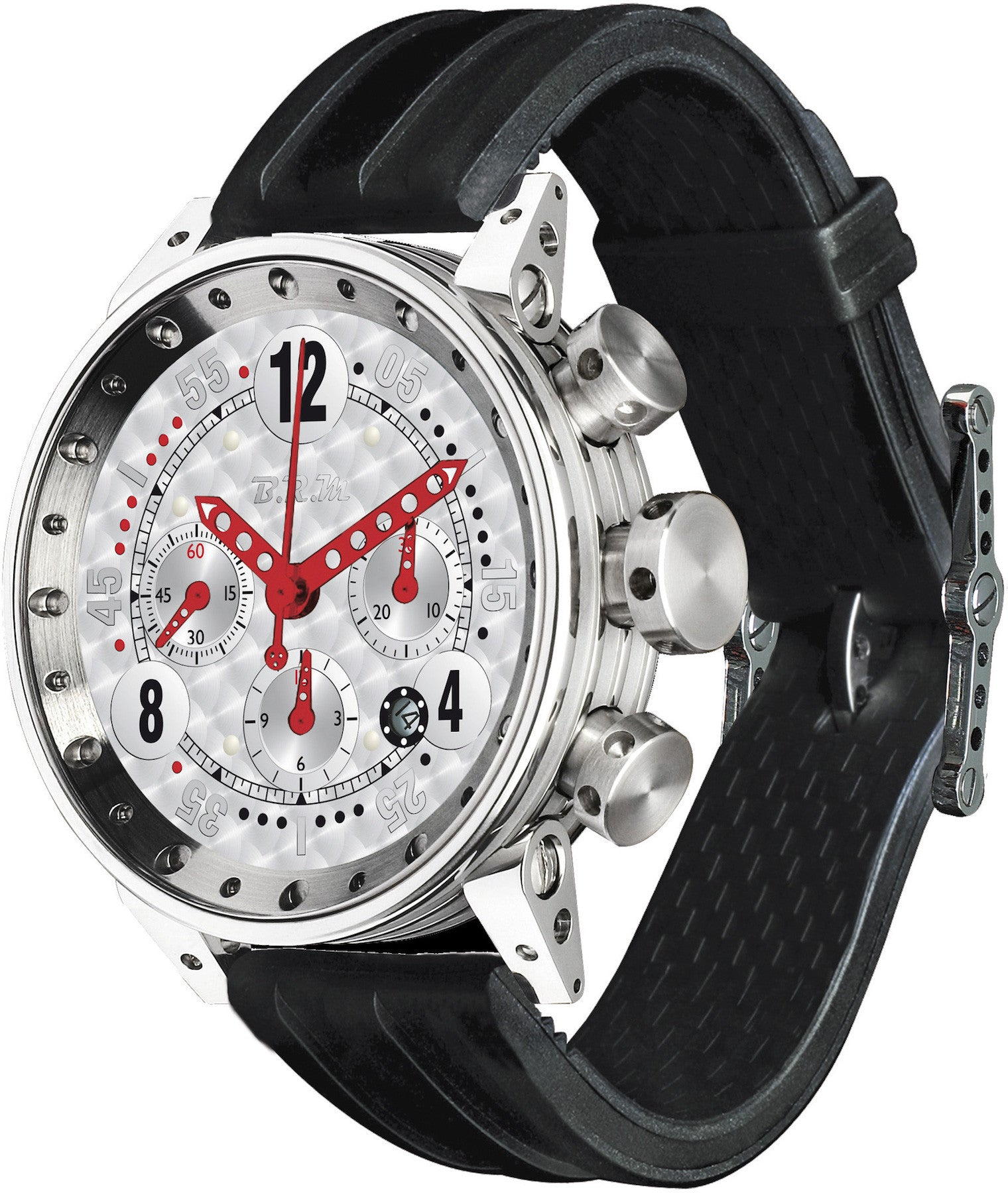 B.R.M Watch V12-44 GTB Red Hands