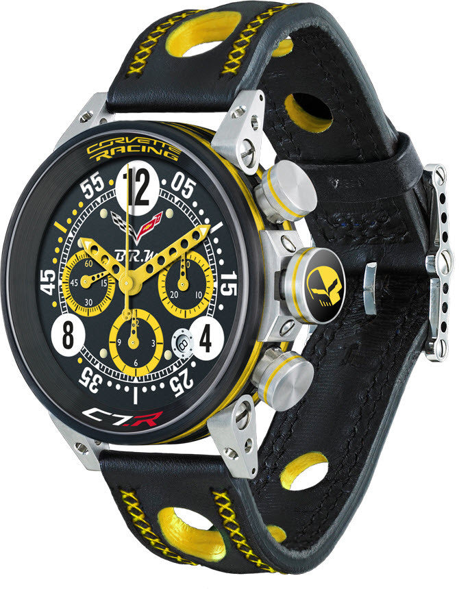 B.R.M Watch V12-44 Corvette Racing Yellow Hands Limited Edition