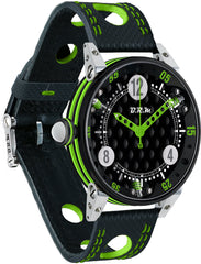 B.R.M Watch Golf Master Mens Lime Green Red Hands