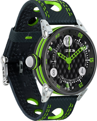 B.R.M Watch Golf Master Ladies Lime Green Hands