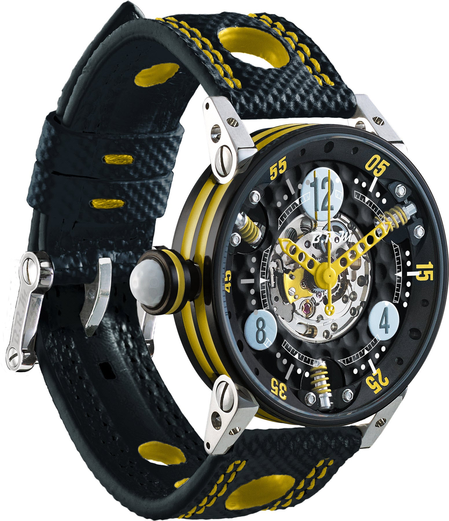 B.R.M Watch Golf Master Ladies Yellow Hands