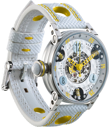 B.R.M Watch Golf Master GF7-38-SA-SQ-AJ Ladies Yellow Hands