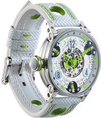 B.R.M Watch Golf Master GF7-38-SA-SQ-AVP Ladies Lime Green Hands