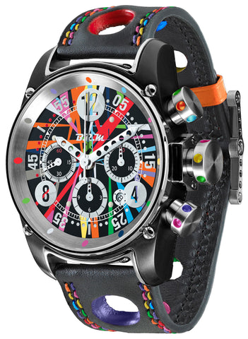 B.R.M Watch T12-44 Divemaster Art Car Limited Edition