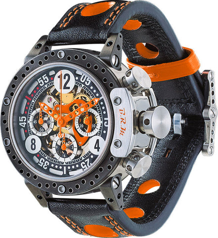 B.R.M. Watch DDF12-44 Skeleton Orange Hands