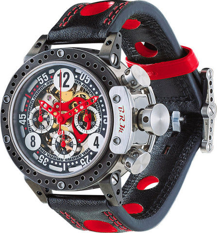 B.R.M. Watch DDF12-44 Skeleton Red Hands