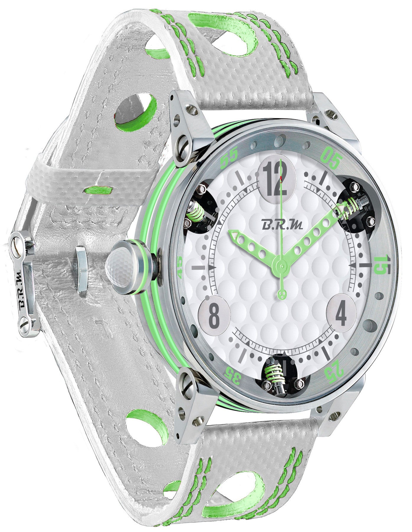 B.R.M Watch Golf Master Light Green Hands Ladies