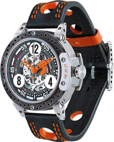 B.R.M Watch DDF6-44 Skeleton Orange Hands