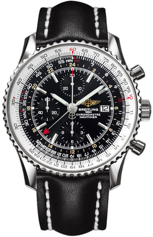 Breitling Watch Navitimer 1 Chronograph GMT 46 Leather Tang Type