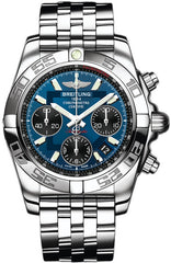 Breitling Watch Chronomat 41 Blackeye Blue Pilot Steel Bracelet D