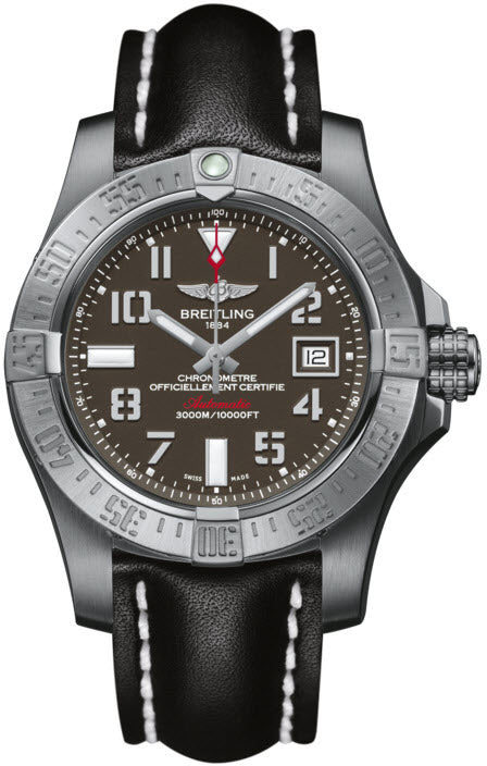 Breitling Watch Avenger Seawolf Leather Tang Type