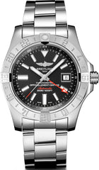 Breitling Watch Avenger II GMT Steel Volcano Black Bracelet