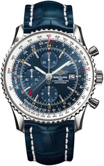Breitling Watch Navitimer 1 Chronograph GMT 46 Croco Tang Type