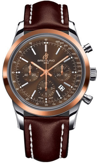Breitling Watch Transocean Chronograph Red Gold