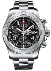 Breitling Watch Super Avenger II Chronograph Volcano Black Professional III Bracelet
