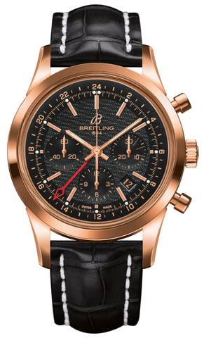 Breitling Watch Transocean Chronograph GMT Red Gold Limited Edition