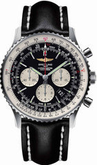 Breitling Watch Navitimer 01 Black Leather Tang Type