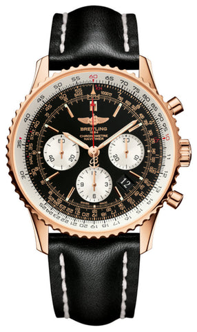Breitling Watch Navitimer 01 Black Red Gold