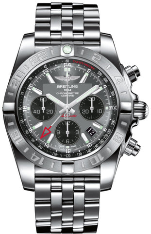 Breitling Watch Chronomat 44 GMT Blackeye Gray