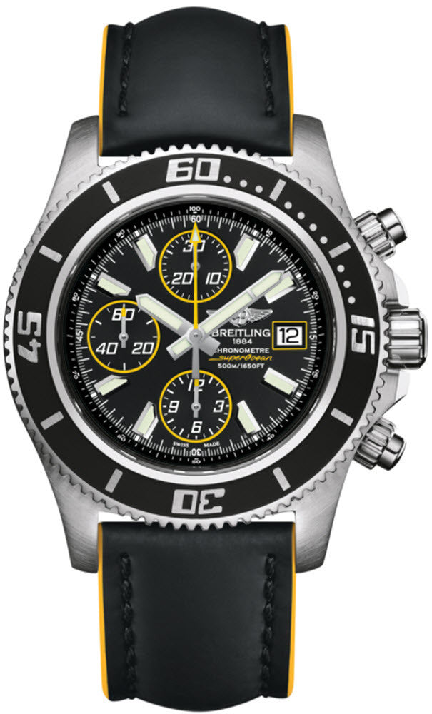 Breitling Watch Superocean Chronograph Abyss Yellow