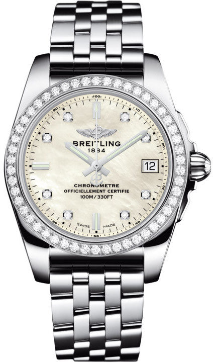 Breitling Watch Galactic 36 SleekT Pearl Diamond