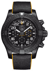 Breitling Watch Avenger Hurricane Breitlight Military Rubber Pushbutton