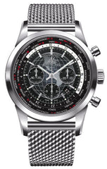Breitling Watch Transocean Chronograph Unitime Steel Black