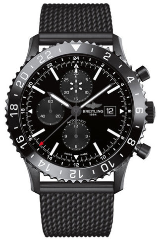 Breitling Watch Chronoliner Blacksteel PVD Bracelet