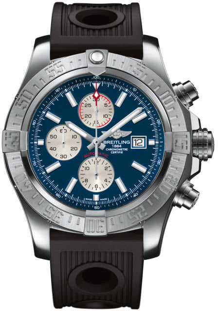 Breitling Watch Super Avenger II Steel Mariner Blue