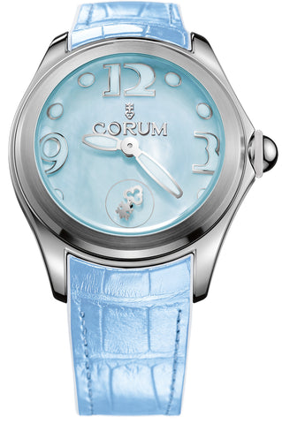 Corum Watch Bubble Mother of Pearl Ladies Blue