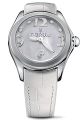 Corum Watch Bubble Mother of Pearl Ladies White