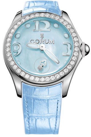 Corum Watch Bubble Mother of Pearl Ladies Blue Diamond