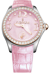 Corum Watch Bubble Mother of Pearl Ladies Pink Diamond