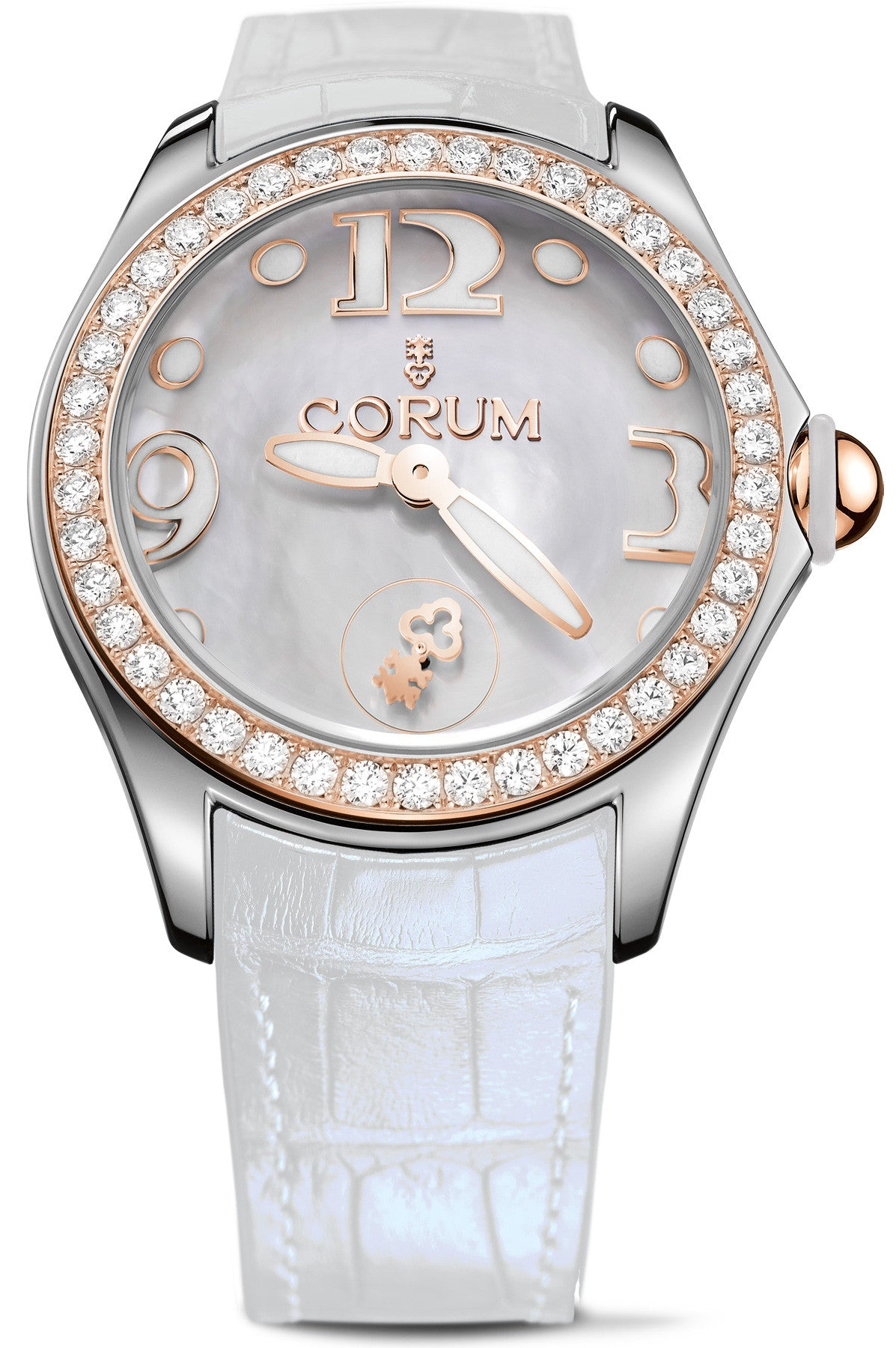 Corum Watch Bubble Mother of Pearl Ladies White Diamond