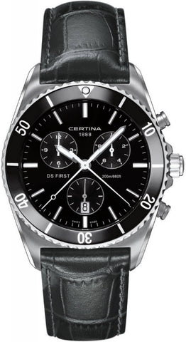 Certina Watch DS First Gent Ceramic Chrono Quartz D
