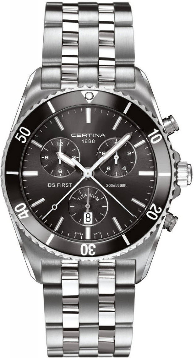 Certina Watch DS First Gent Ceramic Chrono Quartz
