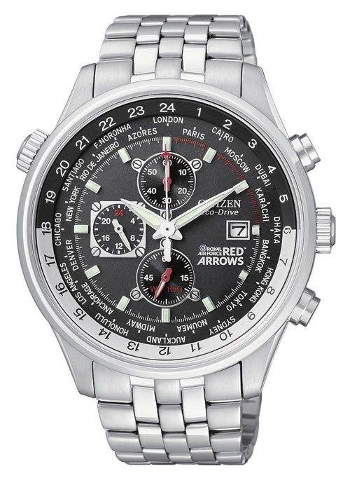 Citizen Watch Red Arrows Eco Drive World Time Chronograph
