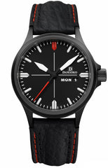 Damasko Watch DA 34 Black PVD Leather Pin